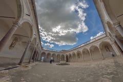 Montecassino,意大利- 2016年6月01日:修道院的内部Montecassino的,意大利 免版税库存图片