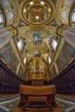 Montecassino,意大利- 2016年6月01日:修道院的内部Montecassino的,意大利 库存照片