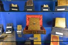 Montecassino,意大利- 2016年6月01日:修道院的博物馆的内部Montecassino的,意大利 库存图片