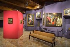 Montecassino,意大利- 2016年6月01日:修道院的博物馆的内部Montecassino的,意大利 免版税库存照片