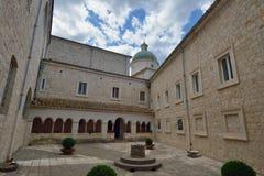 Montecassino,意大利- 2016年6月01日:修道院的博物馆的内部Montecassino的,意大利 图库摄影
