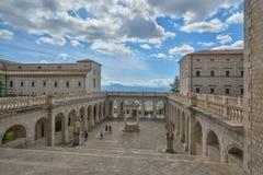 Montecassino,意大利- 6月01 :修道院的内部Montecassino的, 2016年6月01日的意大利 免版税库存照片