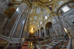 Montecassino,意大利- 6月01 :修道院的内部Montecassino的, 2016年6月01日的意大利 库存图片