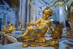 Montecassino,意大利- 6月01 :修道院的内部Montecassino的, 2016年6月01日的意大利 免版税库存图片