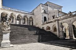 Montecassino Abbey, religious and historic destination in Cassino. Italy Royalty Free Stock Photo
