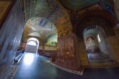 Montecassino, ITALIA - 1 de junio de 2016: Interior de la abadía en Montecassino, Italia Imagenes de archivo