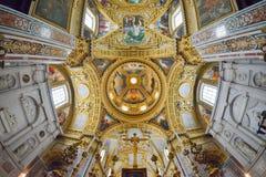 Montecassino, ITALIA - 1 de junio de 2016: Interior de la abadía en Montecassino, Italia Imagen de archivo