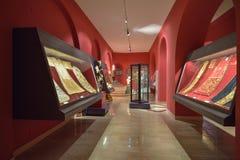 Montecassino, ITALIA - 1 de junio de 2016: Interior del museo de la abadía en Montecassino, Italia Imagen de archivo libre de regalías