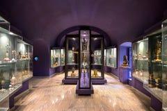 Montecassino, ITALIA - 1 de junio de 2016: Interior del museo de la abadía en Montecassino, Italia Imagen de archivo
