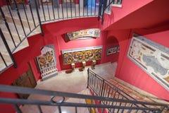 Montecassino, ITALIA - 1 de junio: Interior del museo de la abadía en Montecassino, Italia el 1 de junio de 2016 Fotos de archivo libres de regalías