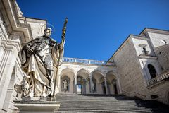 Montecassino Abbey. Lazio, Italy Royalty Free Stock Image