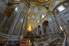 Montecassino, ITALY - JUNE 01: Interior of the Abbey at Montecassino, Italy on June 01, 2016 Stock Image