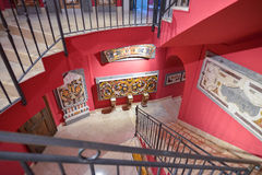 Montecassino, ITALY - JUNE 01: Interior of the Museum of the Abbey at Montecassino, Italy on June 01, 2016 Royalty Free Stock Photos