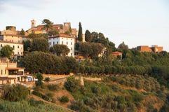 Montecatini Alto, Italy. The view of Montecatini Alto, Italy Royalty Free Stock Photos