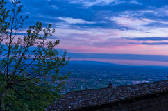 Montecatini Alto near Florence is a good viewpoint toward west Tuscany Stock Photo
