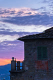 Montecatini Alto near Florence is a good viewpoint toward west Tuscany Royalty Free Stock Photo