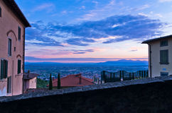 Montecatini Alto near Florence is a good viewpoint toward west Tuscany Royalty Free Stock Photography