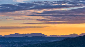 Montecatini Alto near Florence is a good viewpoint toward west Tuscany Royalty Free Stock Image