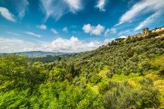 Montecatini sotto le nuvole Fotografie Stock