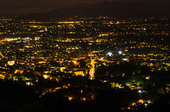 Montecatini Terme by night, near Florence in Tuscany Royalty Free Stock Photography