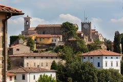 Montecatinialt, Toscanië Stock Afbeeldingen