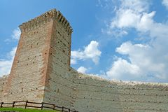 Montecchio Maggiore Vicenza Italia Romeo`s castle stock photos