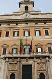 Montecitorio宫殿,意大利的国民议会的家-罗马, 库存图片