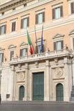 Montecitorio宫殿,意大利的国民议会的家-罗马, 免版税库存照片