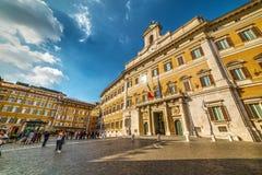 Montecitorio宫殿,意大利议会位子  免版税库存图片