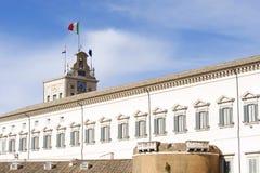 Montecitorio宫殿,议会的家 免版税库存图片