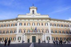 Montecitorio den italienska parlamentet Arkivbild
