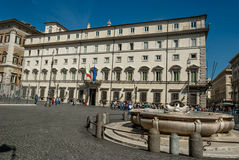 Montecitorio Italian government building(history rome). The beautiful building where all the senators Royalty Free Stock Photo
