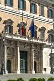 Montecitorio Italian government building. Montecitorio square in the heart of Rome and the Italian capital Royalty Free Stock Photo