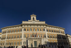 Montecitorio italian parliament repubbliv rome palace Stock Image