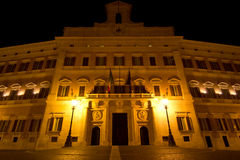 Montecitorio palace. By night (Rome,Italy Royalty Free Stock Images