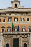 Montecitorio Palace, home to Italy's Chamber of Deputies - Rome, Stock Image