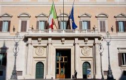 Montecitorio Palast, Rom Stockbild