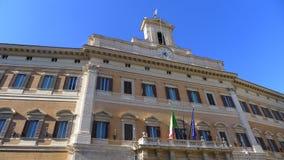 Montecitorio slott Hus av den italienska parlamentet, Rome Fotografering för Bildbyråer