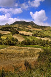 Montecopiolo italian landscapes Royalty Free Stock Images