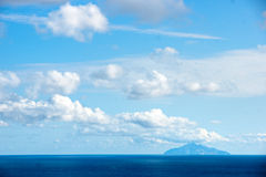 Montecristo, view from Chiessi, Isle of Elba. Royalty Free Stock Images