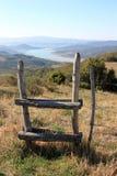 Montedoglio湖,托斯卡纳,意大利 免版税库存照片
