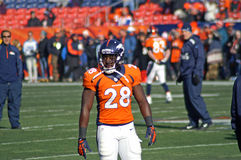 Montee Ball. Warms up before a game. Broncos rookie runningback is coming on strong as another bronco weapon stock images