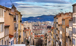 Montee de la bonne Mere in Marseilles - France Royalty Free Stock Images