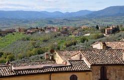 Montefalco u. der Valle von Umbrien, Italien lizenzfreies stockbild