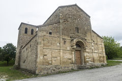 Montefeltro (3月,意大利) :中世纪教会 免版税库存照片