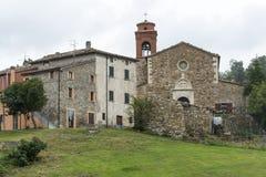 Montefeltro (3月,意大利) :村庄 免版税图库摄影
