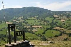 Montefeltro (Märze, Italien), Landschaft Lizenzfreie Stockfotografie