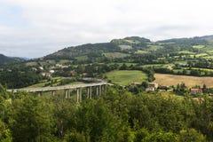 Montefeltro (Marche, Italia) Fotografie Stock
