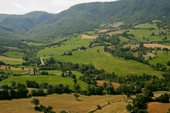 Montefeltro (Marches, Italy), landscape. From Pennabilli (Pesaro Urbino) at summer Royalty Free Stock Image
