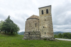 Montefeltro (Marches, Italy): medieval church Stock Photography